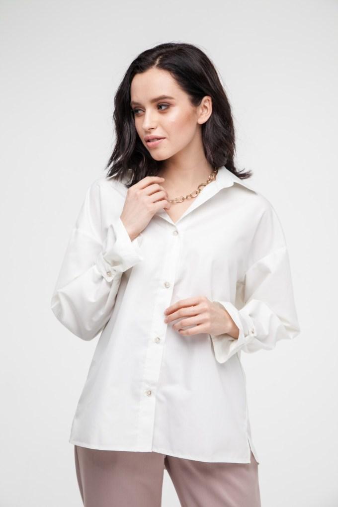 Рубашка oversize молочная - THE LACE