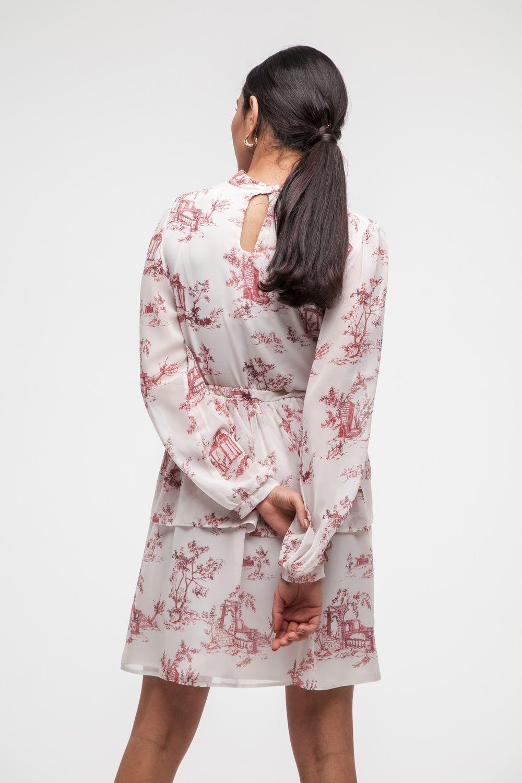 Платье мини красное Toile de Jouy - THE LACE