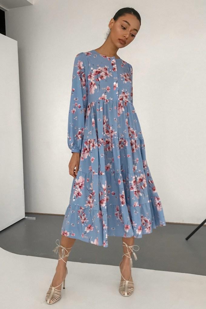 Платье миди свободного кроя Magic bloom - THE LACE