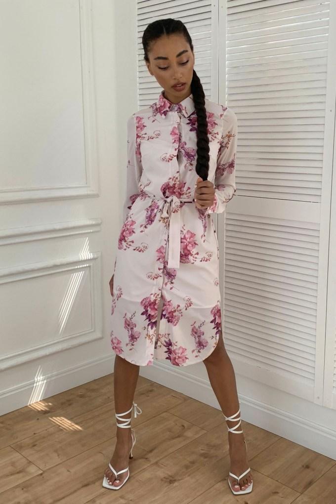 Платье-рубашка Bright flowers - THE LACE