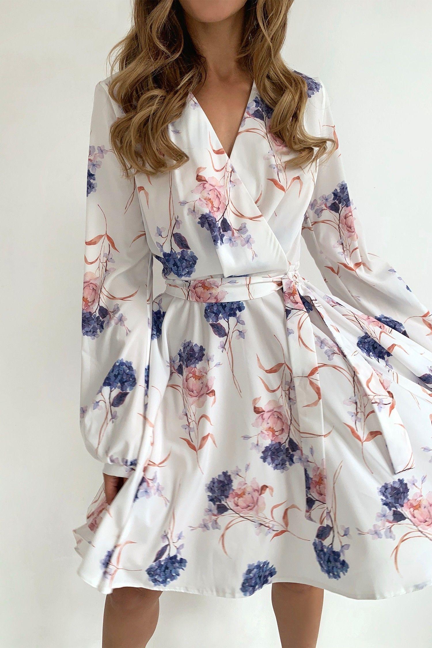 Платье мини белое Flower fantasy - THE LACE