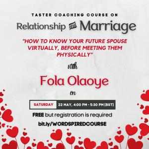 Taster Coaching Course on Relationship & Marriage