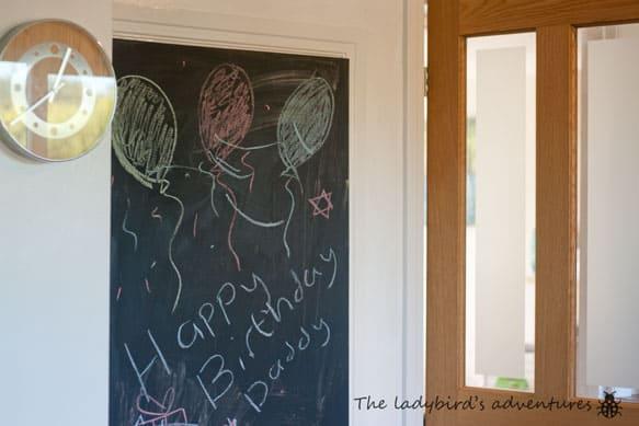 Blackboards, birthdays and gardening #littleloves