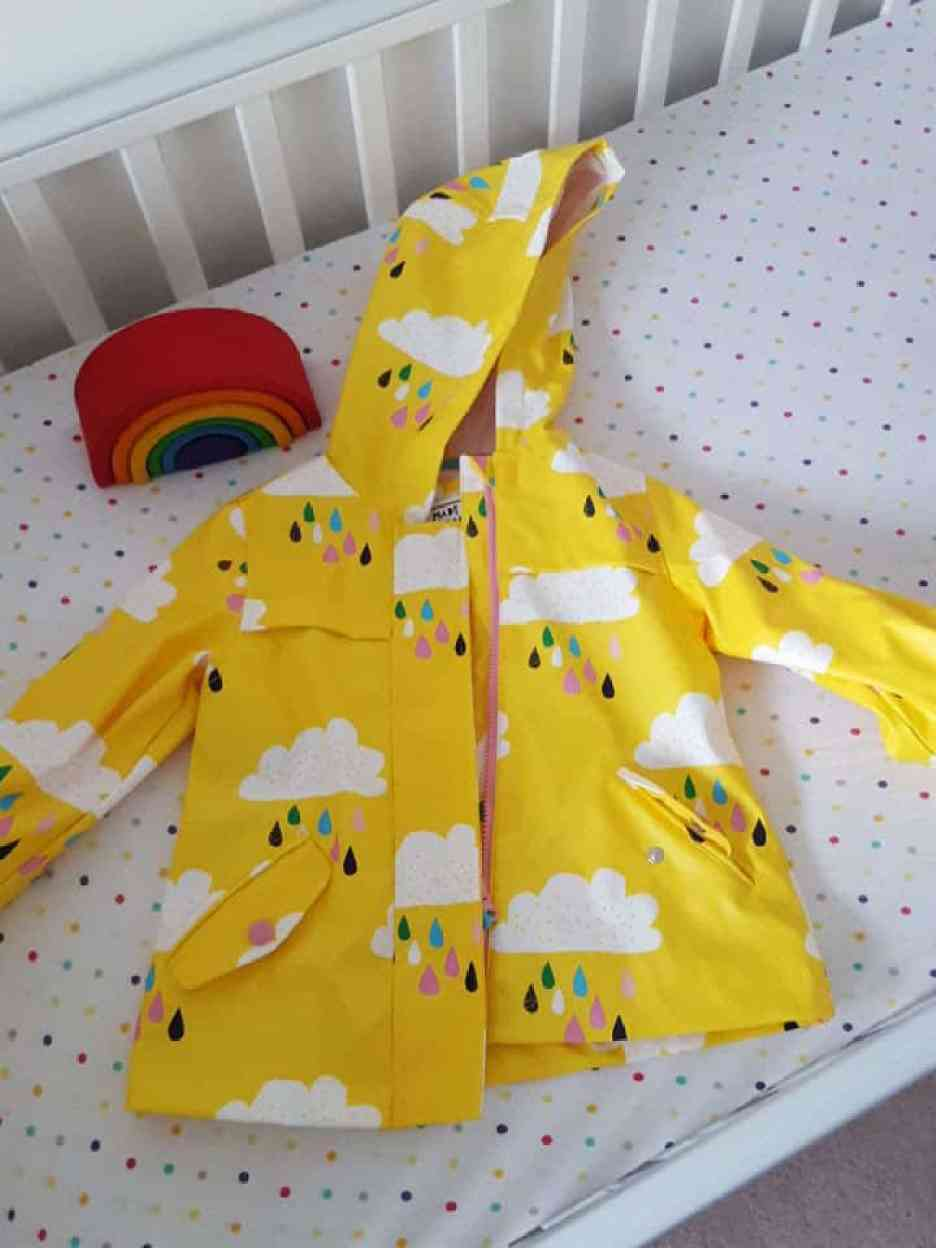 m&s girls yellow raincoat