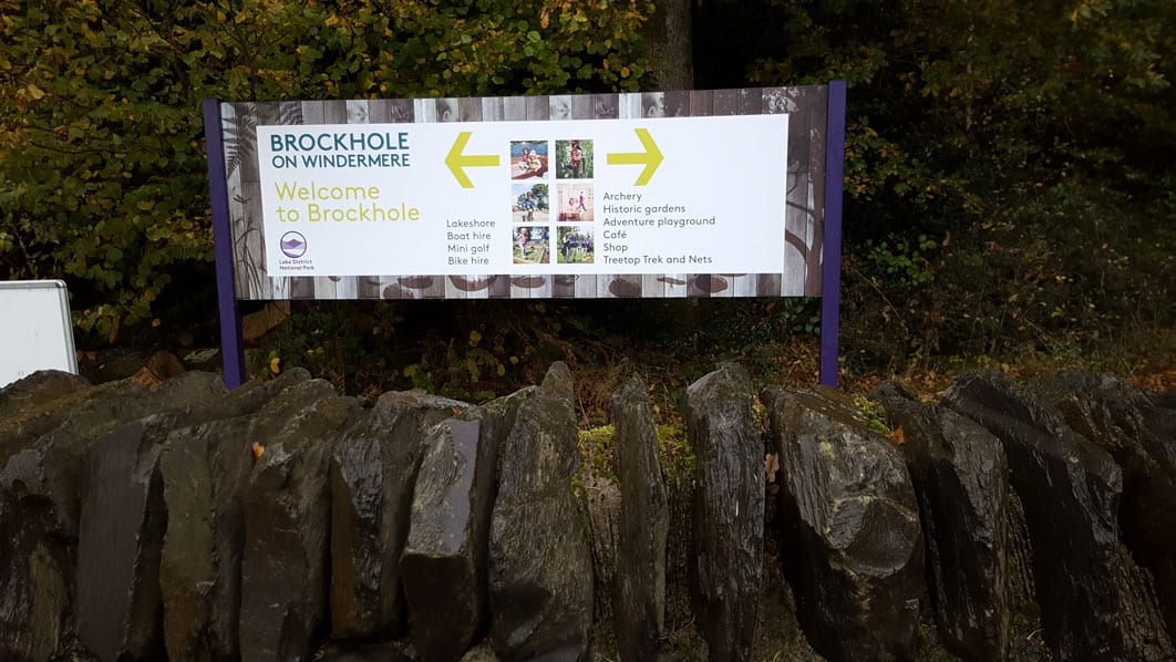 Brockhole sign