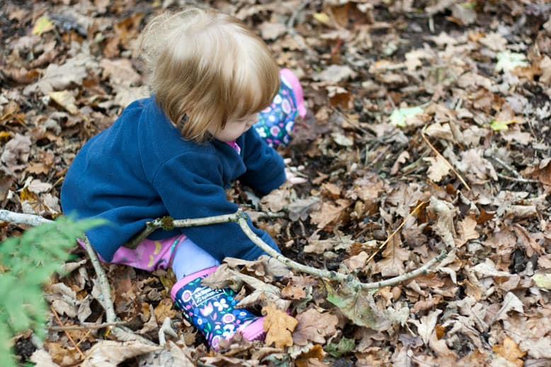 Autumn sensory play, woodland walks and parent's evening #littleloves