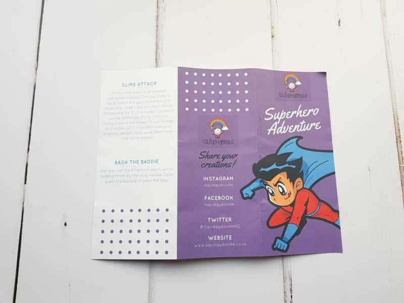 Squidgydoodle Superhero craft box