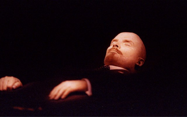 The body of Vladimir Lenin (pictured) is on display in Moscow, Russia.