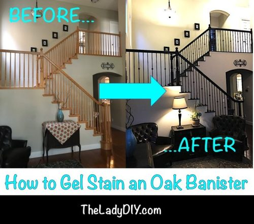 How To Gel Stain An Oak Banister