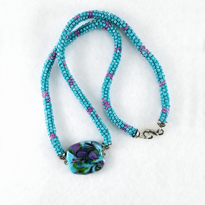 Orchid Tempest necklace