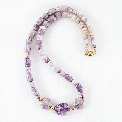 Stone Lilac necklace