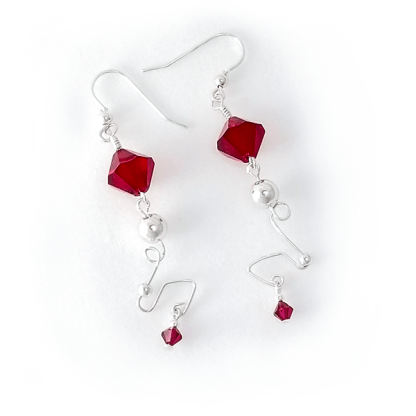 Abstract Ruby earrings