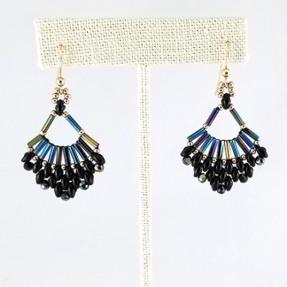 Jumpin' Black Flash earrings
