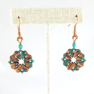 Paisley-Go-Rounds earrings