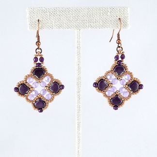 Passionate Purples earrings