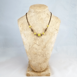 Serpentine Brass necklace