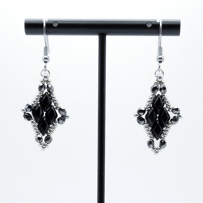 Double Diamond Earrings
