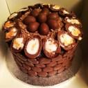 Cadbury cake with vanilla sponge and chocolate fudge frosting