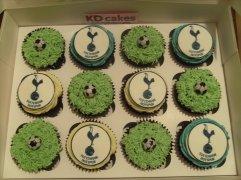 Football themed cupcakes