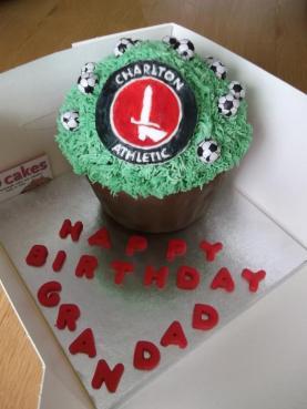 Football Giant Cupcake