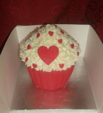 Valentines Giant cupcake