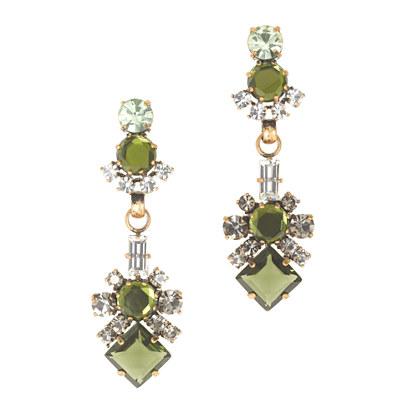 J.crew luxe crystal earring