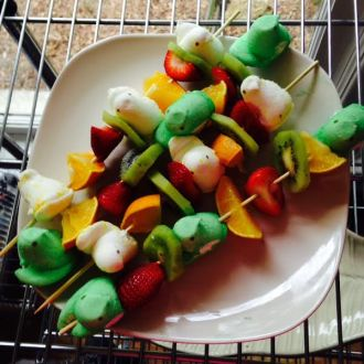 Peeps Fruit Kabobs!