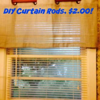 Tutorial Tuesday: DIY $2.00 Curtain Rods!