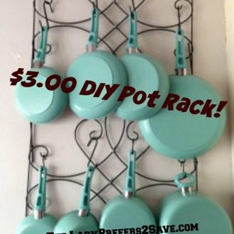 Tutorial Tuesday: DIY Hanging Pot Rack, Only $3.00!