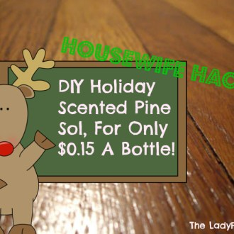 DIY Holiday Scented Pine Sol, Only $0.15 A Bottle!