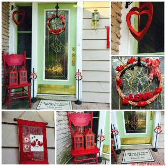 Spring Craft Blog Hop & Valentine's Day Porch Reveal! #SCBH2015