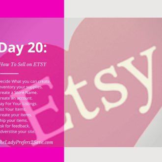 February No Spend Month Challenge: Day 20 (How to Sell on ETSY)
