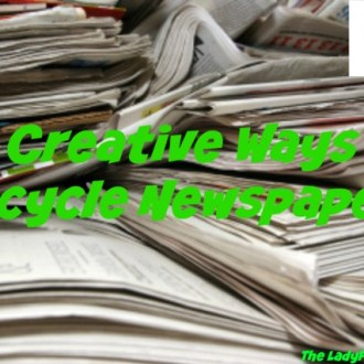 10 Creative Ways To Recycle Newspaper!