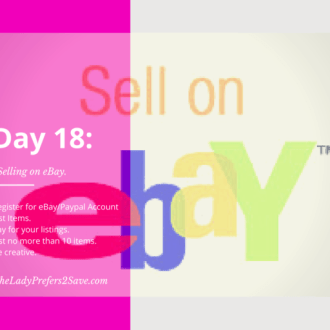 No Spend Month Challenge: Day 18 (How to Sell on eBay)