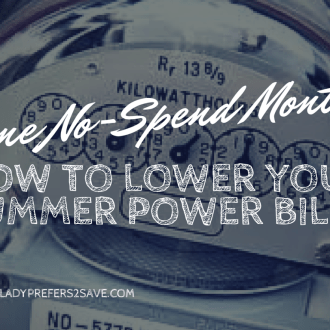 June No-Spend Month, Day 14: Save on Your Electric Bill This Summer!