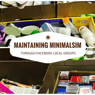 Maintaining Minimalism through Facebook Local Sales