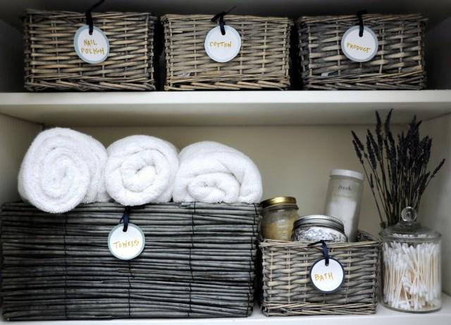 Organized Linen Closet Shelves Post Kon-Mari