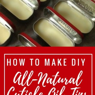 DIY Holiday Cuticle Oil Tins