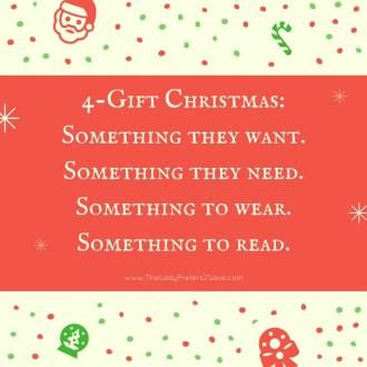 4-Gift Christmas Challenge