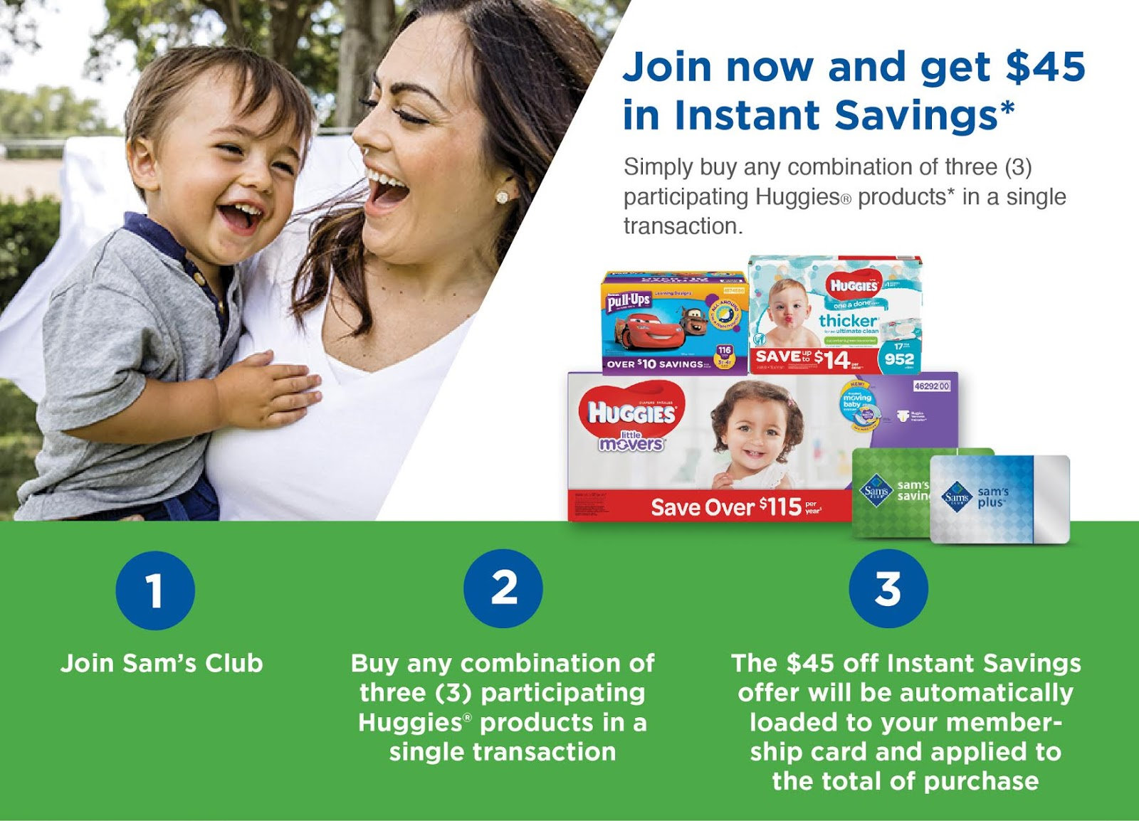 Instant Savings with Sam's Club and Huggies
