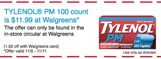 Save on TYLENOL® PM this season at Walgreens