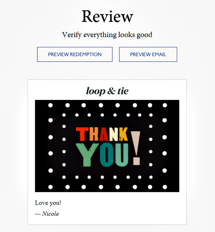 Loop & Tie Gift-Giving Service Review
