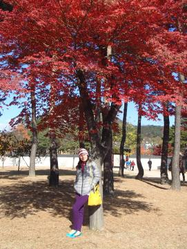 Loving the red leaves! :)