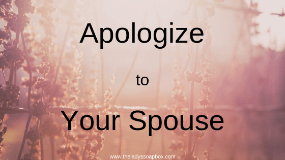 Apologize to Your Spouse