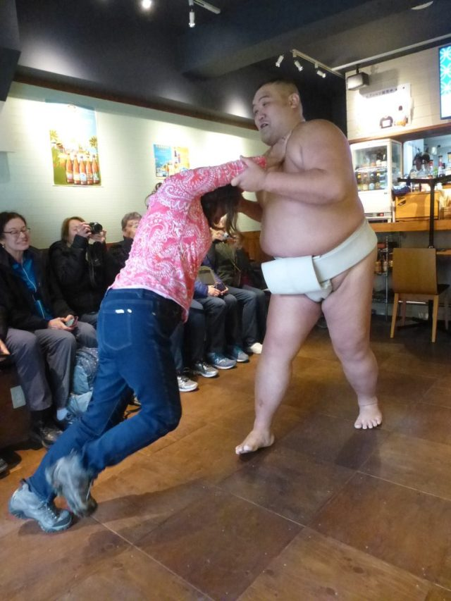 You can challenge a Sumo wrestler in Toyko