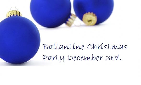 Ballentine Christmas party December 3