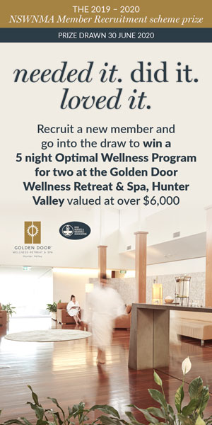 NSWNMA –Member Recruitment prize: Golden Door