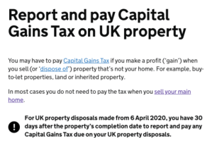 APRIL: Capital Gains Tax