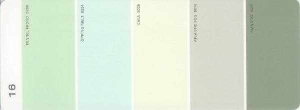 Martha Stewart Paint 5 Color Palette Card 16