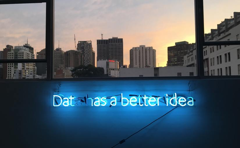 trolling data has a better idea neon sign